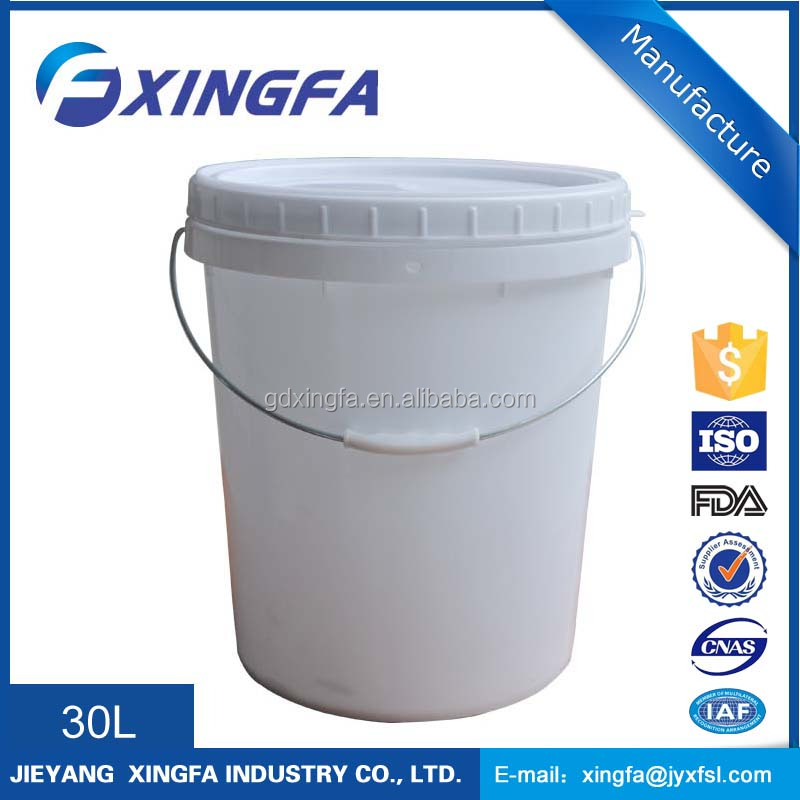 plastic pails with lids 30 liter plastic pail 8 gallon Sealed plastic bucket of food