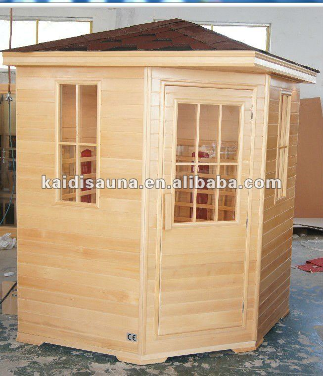 3 or 4 people far infrared sauna with 100% ceramic heater ; Mica carbon heater as optional