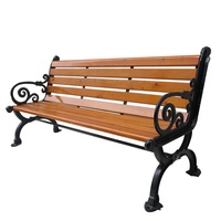 High quality outdoor garden park solid wooden patio bench