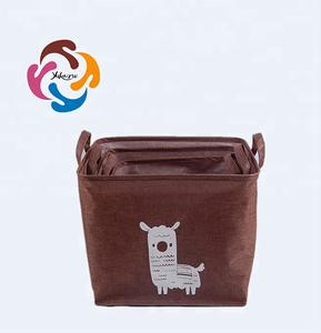 PE waterproof storage basket with printing, toy storage boxes