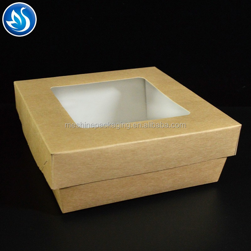 Harmless and cheap price fast food packing kraft paper box