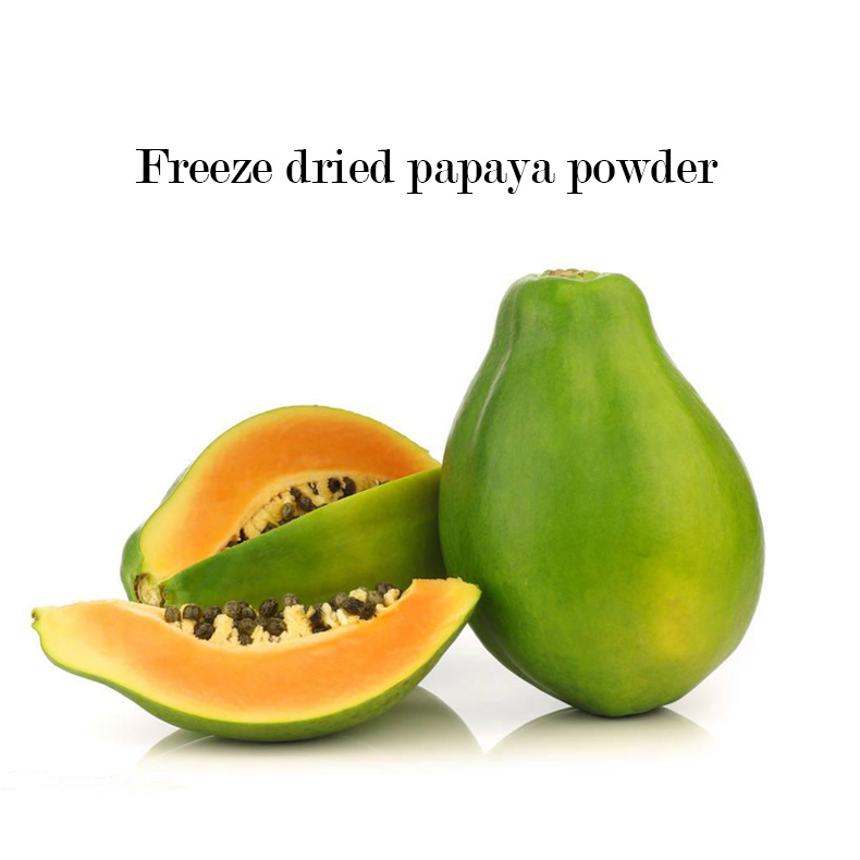 100% natural freeze-dried papaya powder powder and provide free samples