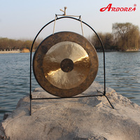 Hand Made Musical Instrument Chinese Gong With Stand