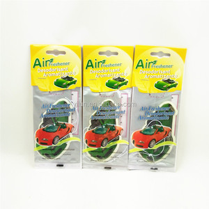 Advertising custom cheap price make hanging paper car air freshener
