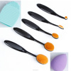 Professional Oval Tooth Makeup Brush Set 5pcs High Quality Makeup Tools Kit+wash eggs+sponge