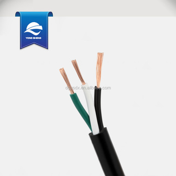 ac wiring black white green svt 16awg green black white 3core power cable - buy 3core ...