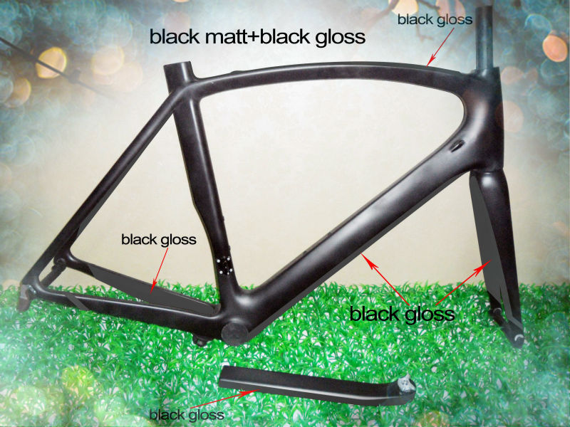 2014 DENGFU 700C Monocasco Cuadro Y Cuadro carbono de bicicleta de ...