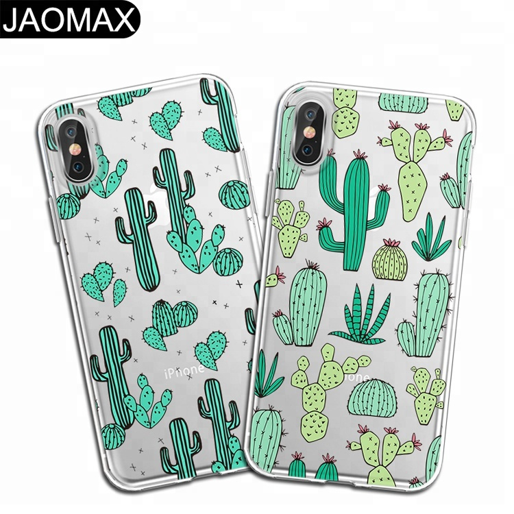 Cactus Prickly Pear Custom Print TPU Cell Phone Case For iphone 7 X Thin Clear Silicon Phone Cover For iphone 8 6 Plus DIY Cases фото