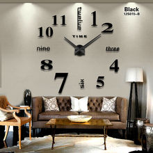 2016 New Home decoration big mirror wall clock modern design 3D DIY large decorative wall clocks watch wall unique gift