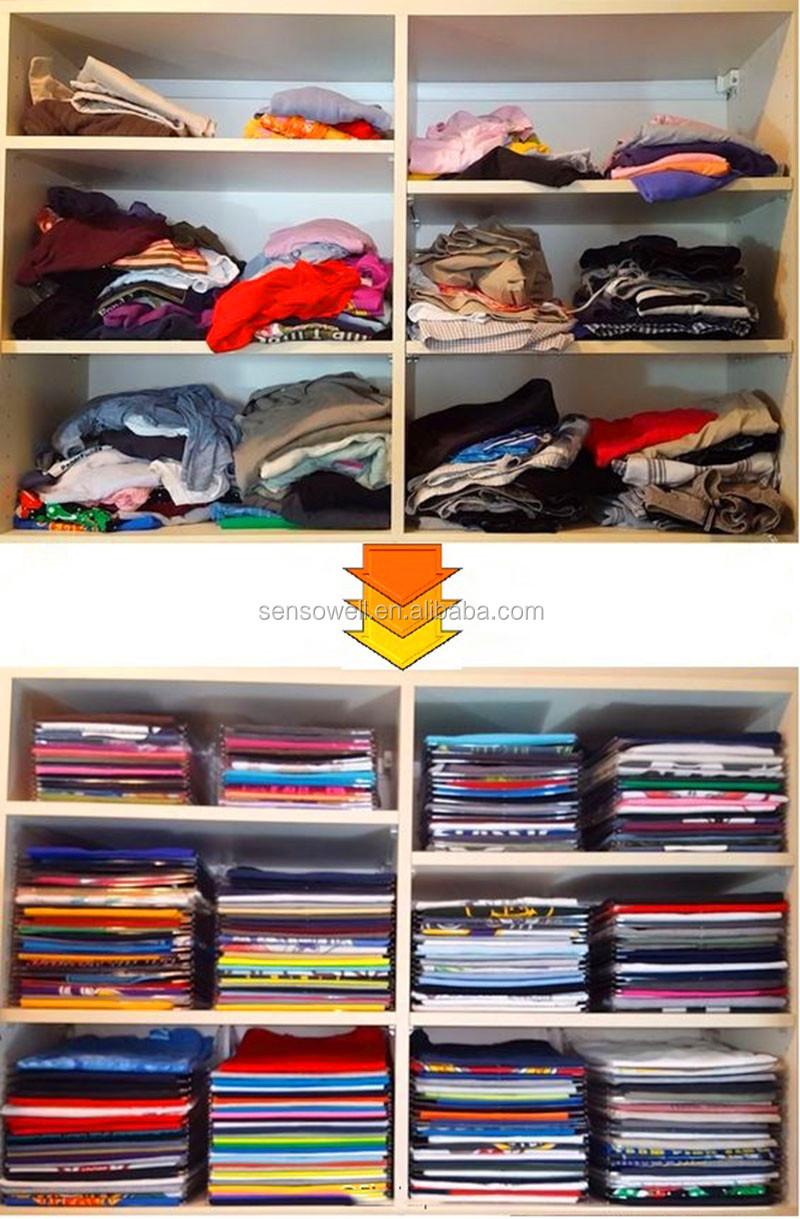 Anti Wrinkle Neat Effortless Clothes Organizer Storage Bag Holders Ezstax T  Shirt Organizing Luggage