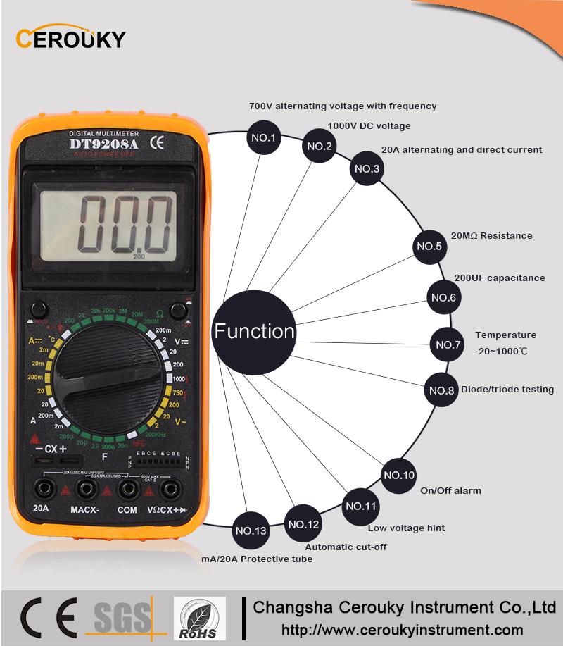 Инструкция мультиметр dt9208a