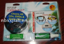 6 in 1 CD cleaning kit DVD/CD/GAME DISC LASER LENS CLEANER