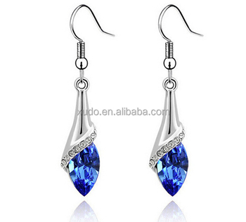 hot sale earring women silver drop earring 8 colors in stock free shipping