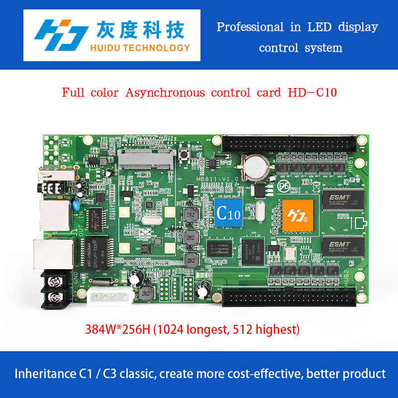 HD-C10 outdoor full color led display huidu controller for video