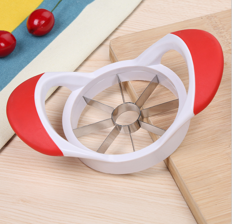 Apple Corer - Comfortable Grip Apple Slicer - Quality Stainless Steel Blade Makes 8 Slices