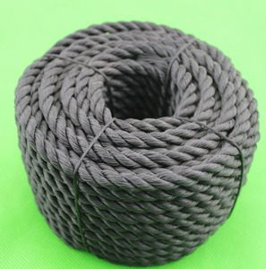 3-strand pe rope recycled material pe pp rope recycled black rope