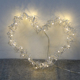 hot sale 3D led ornament manual illuminated lighted up metal wedding arch lamps heart shaped led lights