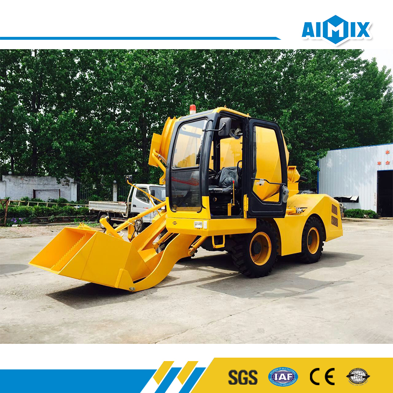 High efficiency 3.5m3 automatic self loading concrete mixer truck