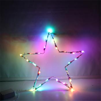 110v Led Outdoor Star String Light Sculpture Christmas Garden Decoration