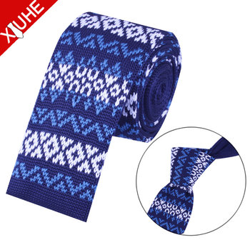 Benutzerdefinierte Häkeln Krawatte Wolle Männer Gestrickte Krawatte