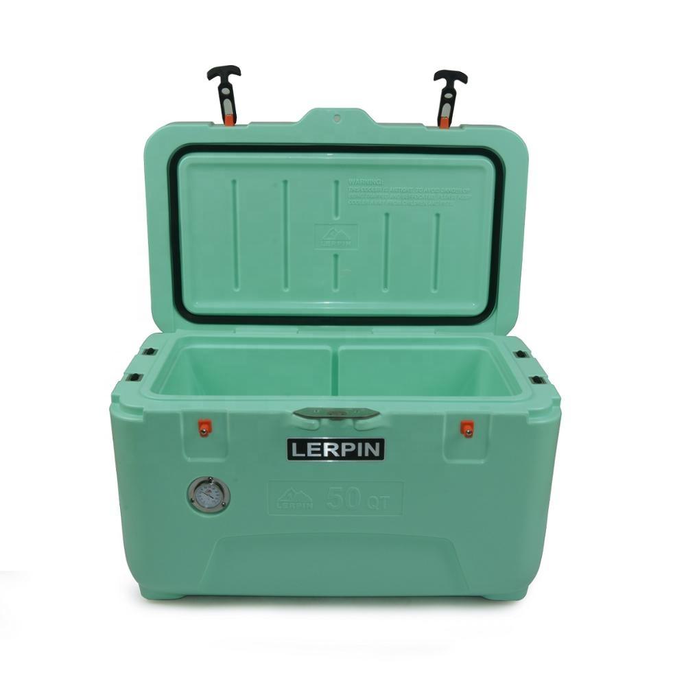 70QT heavy duty Rooling refrigerador do carro caixa de gelo cooler box