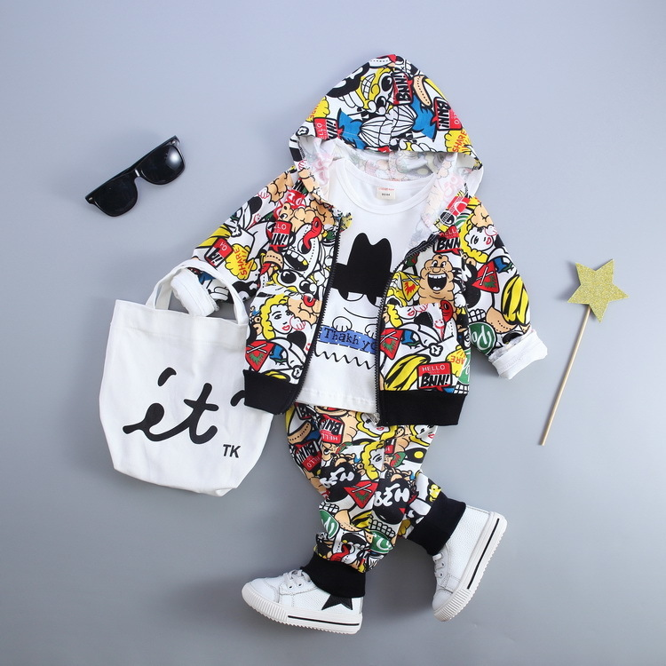 High quality kid garment 3pces boys clothes with long-term technical support
