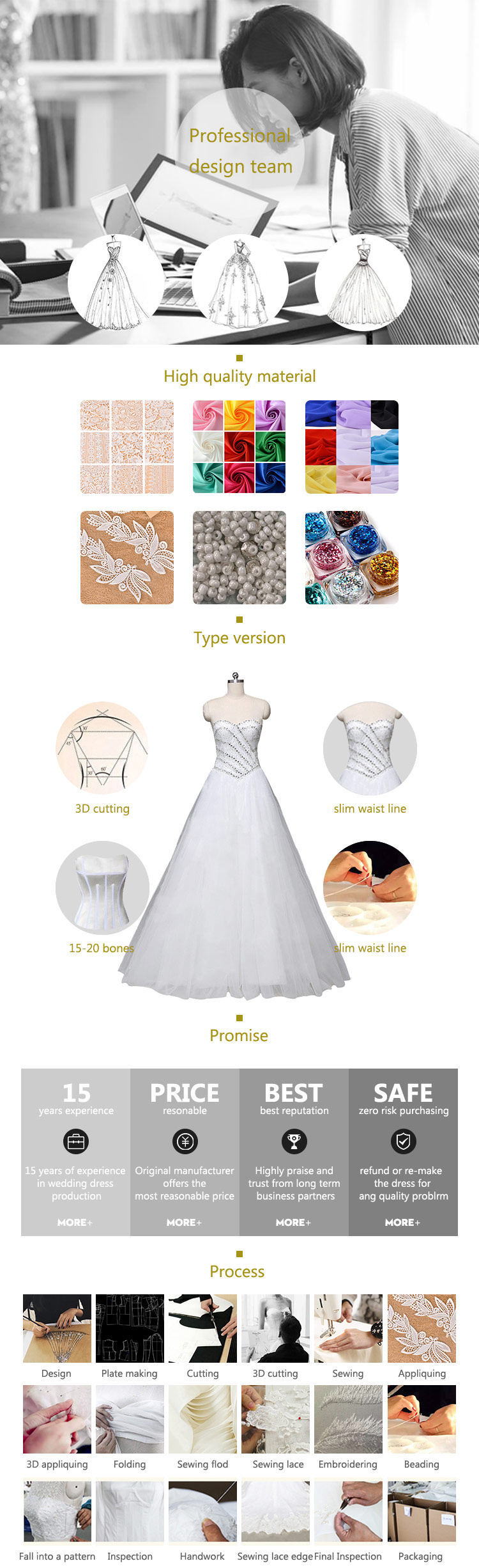 2018 Crystal Design Wedding Dress Bridal Gown Champagne Prom Dress Mermaid Wedding Dresses