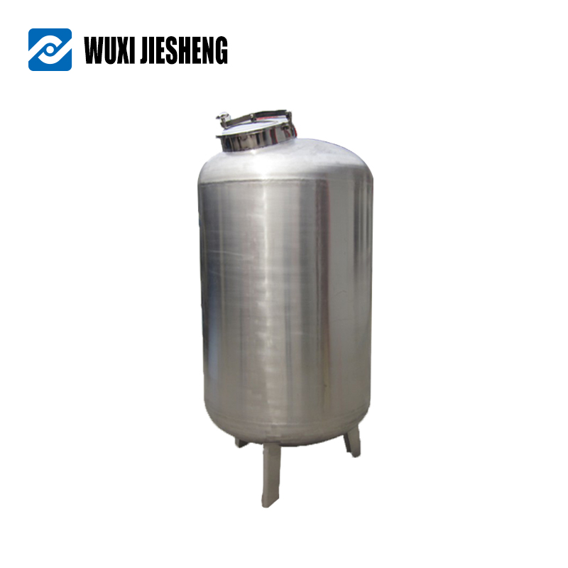 Simple 5000l-10000l horizontal stainless steel mixing storage tank