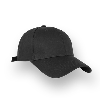 Mens Plain Baseball Cap Cotton Black Fashion Unisex Adjustable Hip Pop Flat  Hats 22504f444d1