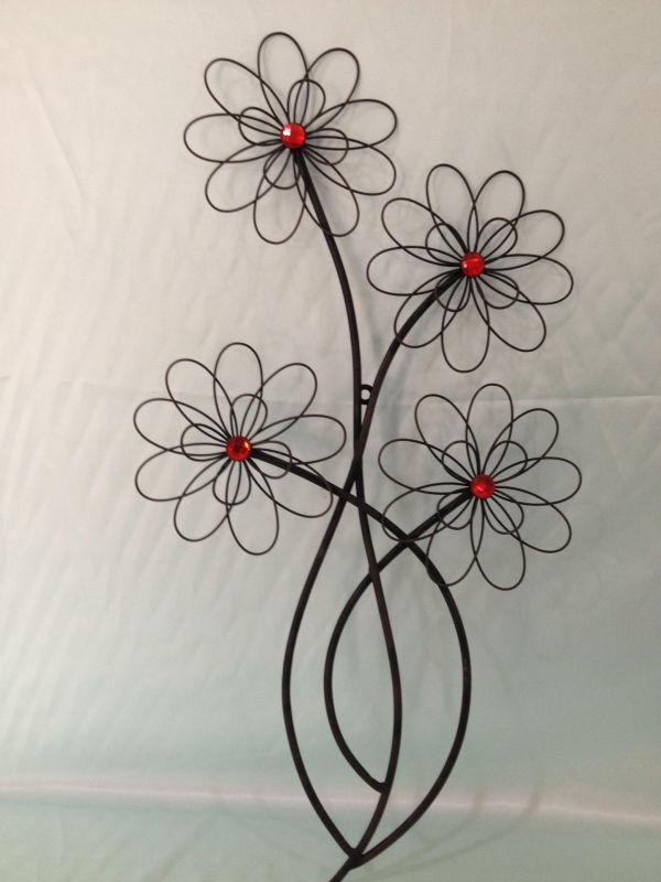 M tal fleur d coration murale autres d cors maison id de - Deco murale metal fleur ...