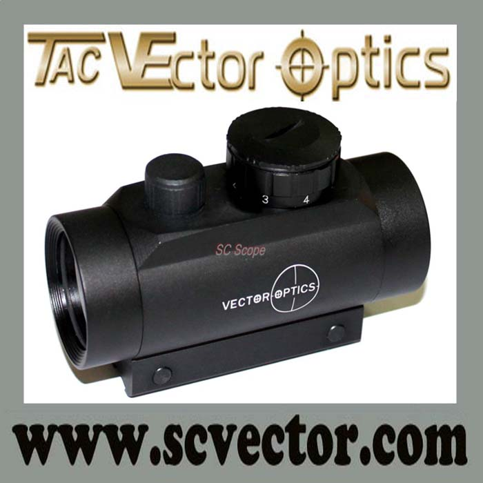 Vector Optics Cactus 1x35 7 Levels Illumination Full Metal with Caps Dovetail Mount Red Dot Rifle Scope