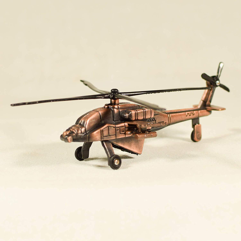Metal Die Cast Helicopter Sharpener Retro Heli Miniature Model Antique Finished