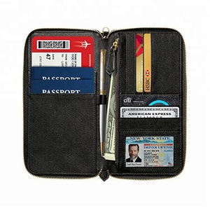 30-018 2018 trending products New design Family leather Passport Holder Travel Document Organizer & RFID Passport Wallet Case
