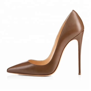 2018 Wholesale Fashion Sexy Ladies Leather Dress Shoes Women High Heel Shoes