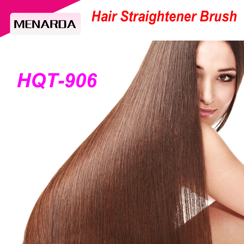 Most Popular Top Star LCD Fast Electric Hair Straightening Brush