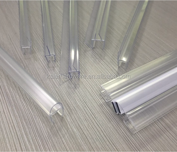 High Grade Clear Plastic Rubber Shower Door Seal Strip