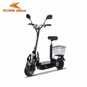 COC/EEC 2 wheel 500W 800W 1000W 1800W with basket folding electric scooter