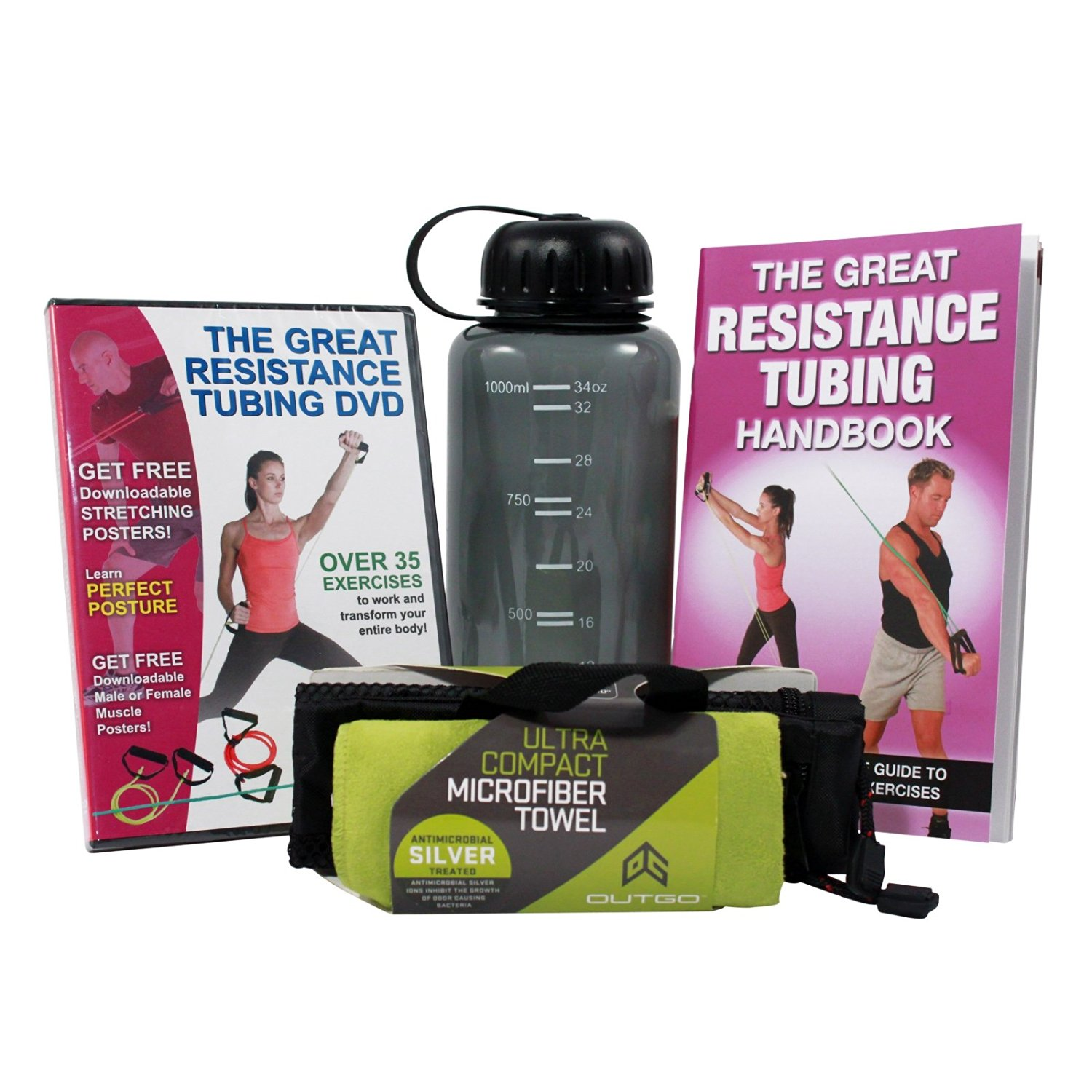 Cheap fitness exercises for men find fitness exercises for men productive fitness resistance exercises dvd handbook towel and water bottle set fandeluxe Image collections