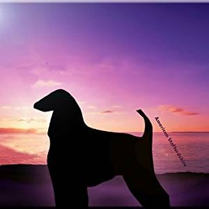 "Rikki Knight RK-12intilec-8402 12"" X 12"" American Staffordshire Dog At Sunset Design Ceramic Art Tile"
