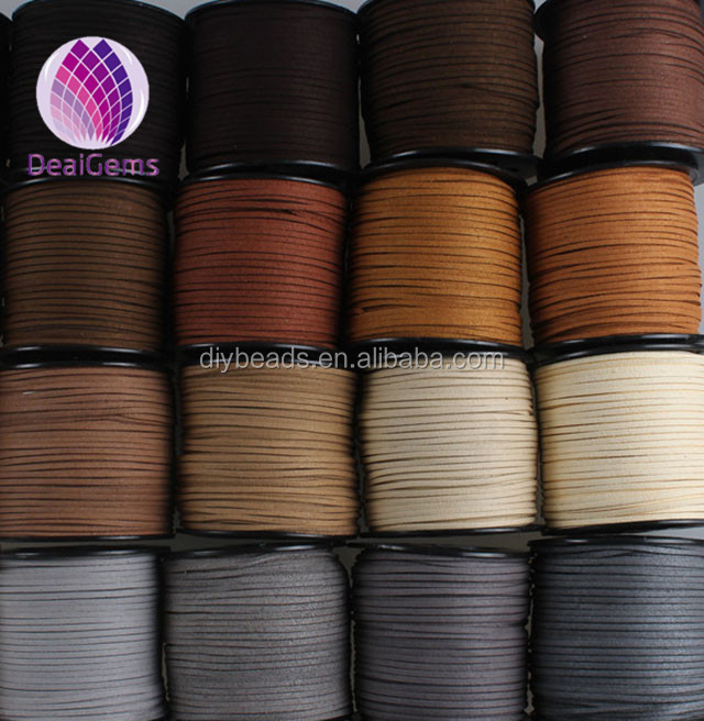 faux suede lace cord colorful faux leather cord for DIY making