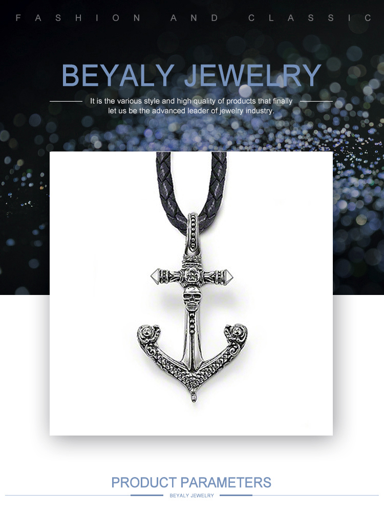 product-BEYALY-Anchor Shape Wholesale Design Sterling Silver Charms Little Boy-img