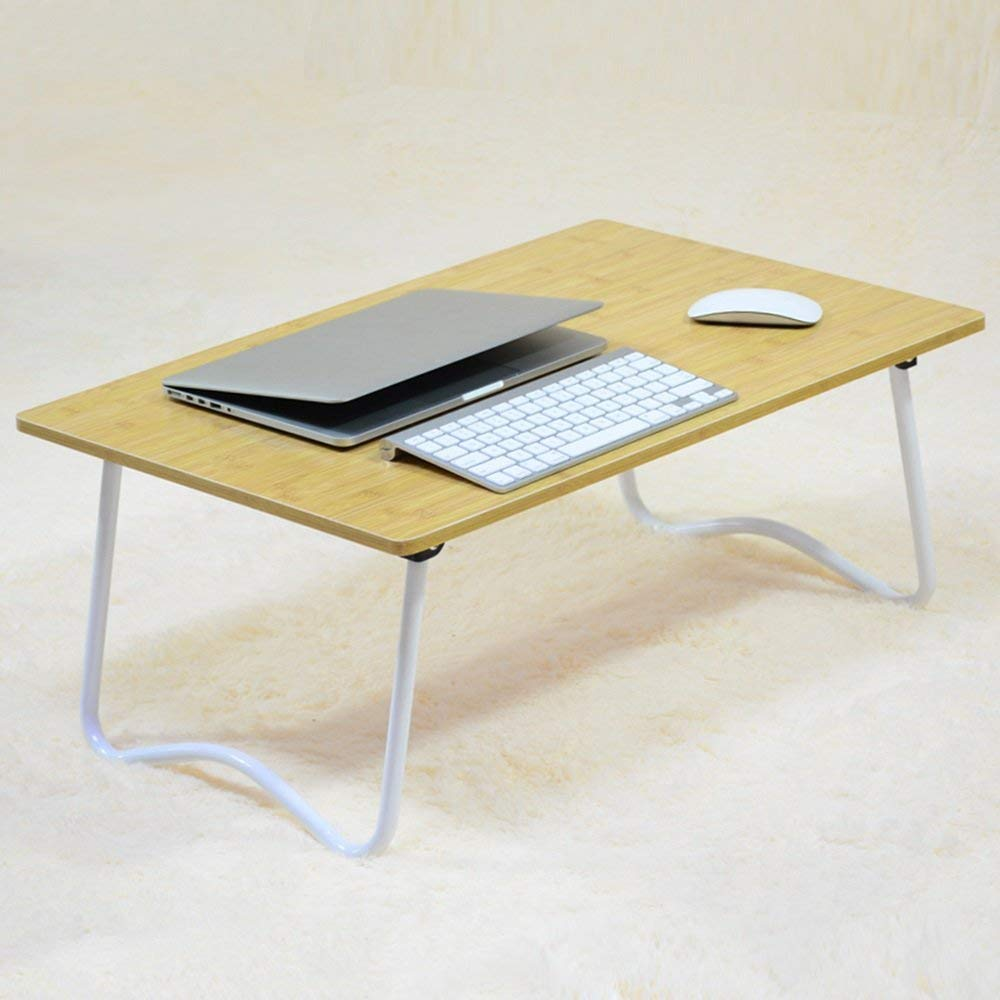 Folding Laptop Desk Table Stand, Computer Laptop Stand,Foldable Breakfast Tray,Notebook Laptop Desk ,Lazy Table Bed Desk,Stahlrahmen ,Portable Folding ( Color : 16#-704530 )