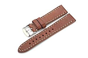 20mm Universal Watch Band, VONOTO Italy Imported Genuine Leather Retro Classic Smart Watch Replacement Bands for MOTO 360 II 2nd Gen 42mm,Samsung Gear S2 Classic Smart Watch (Light Brown)