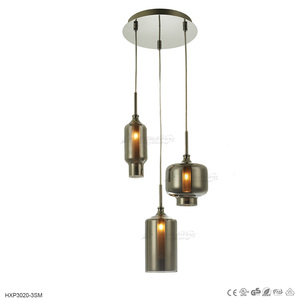 hanging glass balls chandelier in smoke color