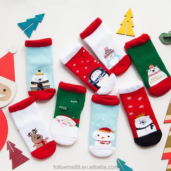 Christmas Stockings Cartoon.Cute Cartoon Children Gift Fuzzy Warm Kids Christmas Socks With Gift Box 5a Buy Cut Terry Fabric Hot Child Tube Socks Christmas Socks Christmas