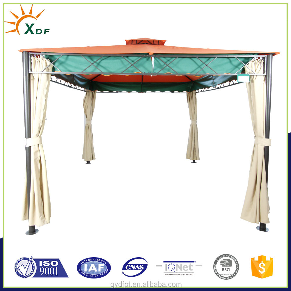 outdoor iron metal roof pavilion