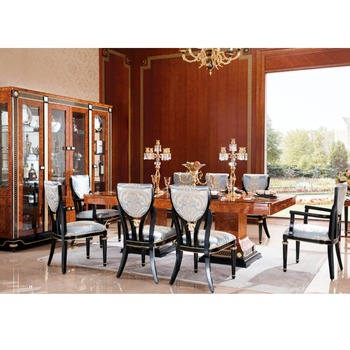 Yb69 Royal Luxury Clical Wooden Dining Room Furniture Set European Style Table With 10 Chairs Clic