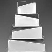Square Topsy Turvy Mad Dadder 4 Piece Cake Pan Set by Fat Daddios