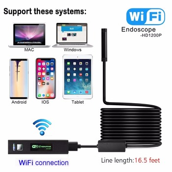 1200p Waterproof High Resolution Wifi Wireless Inspection Endoscope Snake  Camera For Android And Ios Smartphone,Iphone,Laptop - Buy Wifi