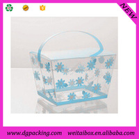 Multi-function Bakery Clear Plastic Cake Box for wedding&basket shaped packing